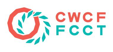 CWCF logo in deep salmon and green